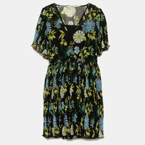 NWT Zara Floral Mini Dress Size XL